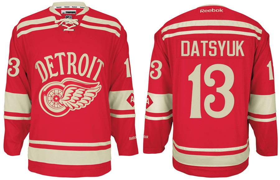 Detroit Red Wings 2014 Winter Classic Jersey ... 551284248