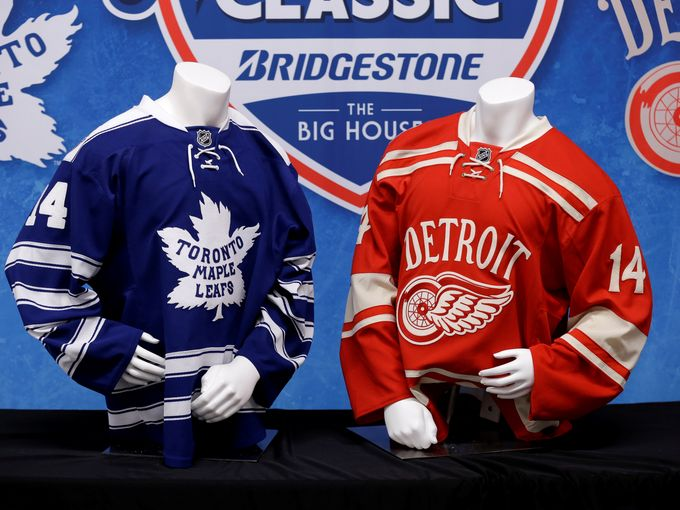 the best attitude 3c81a 2538d Detroit Red Wings, Toronto Maple Leafs Unveil Winter Classic ...