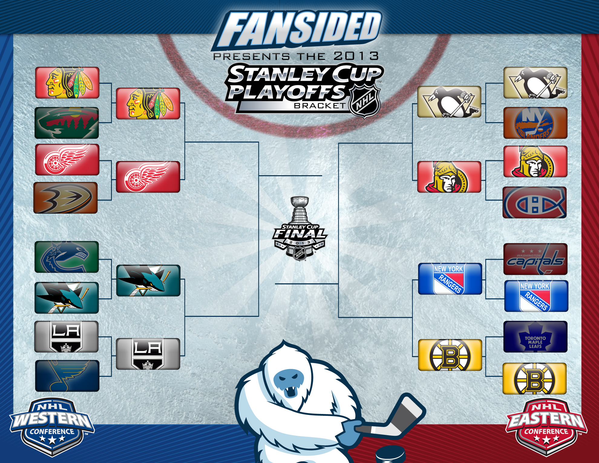 Nhl Stanley Cup Playoffs Printable Bracket Round 2 Too Many Men On