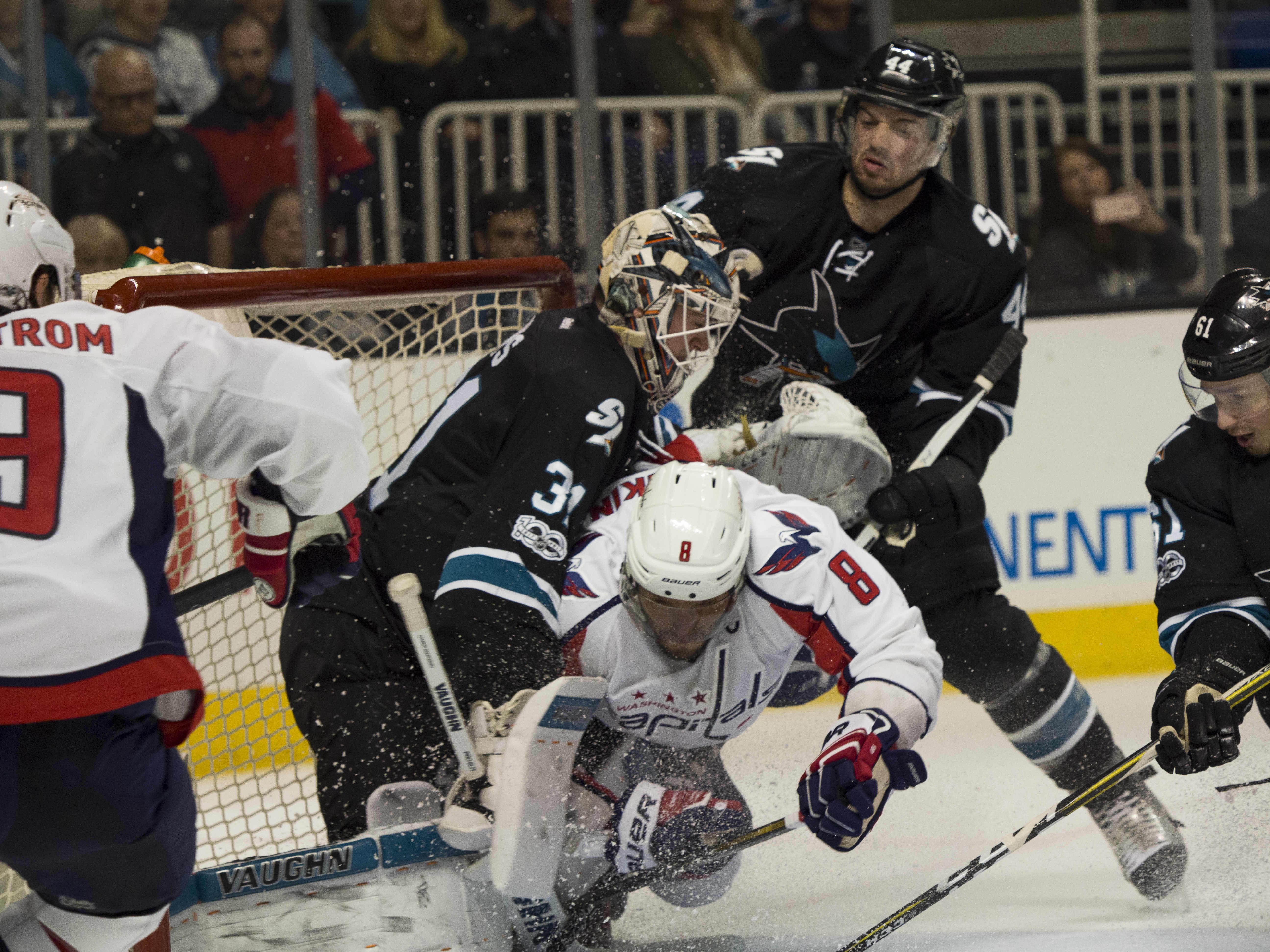 27a30d2b11c San Jose Sharks Washington Capitals Martin Jones Alex Ovechkin