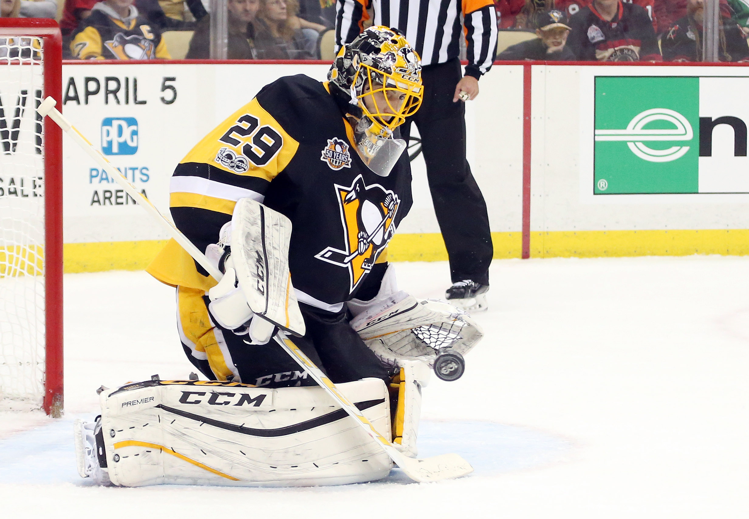 pretty nice ac2ed d25be 2017 Stanley Cup Playoffs: Marc Andre Fleury Staying Strong ...